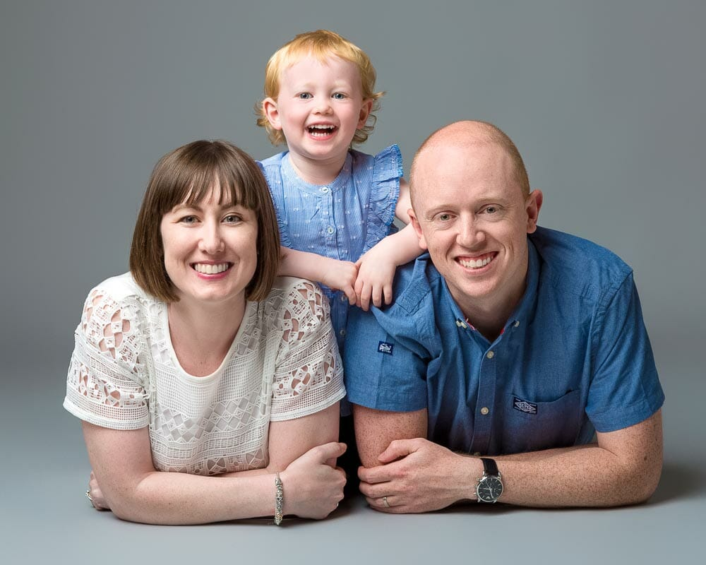 Family Portraits - Photography on a grey background by Mark Hewitson Photography of Thame